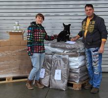 Spendenübergabe Tierheim Oelzschau - die Zweite